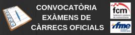 Convocatòria d'exàmens de càrrecs oficials