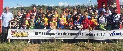 Celebrada con éxito la primera cita del nacional de Enduro Infantil