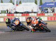 Tripletes para Ferrandez en Moto5 y García en MiniGP 110 en la Minivelocidad de Zuera