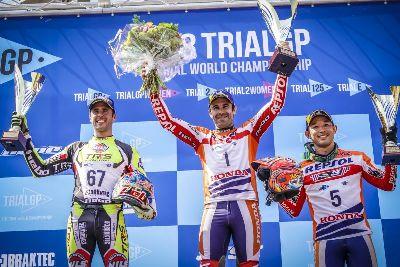 Bou, Raga y Moret en el pódium del Mundial de Trial