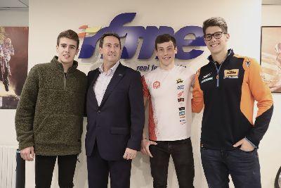 Los campeones del mundo más jóvenes visitan la RFME