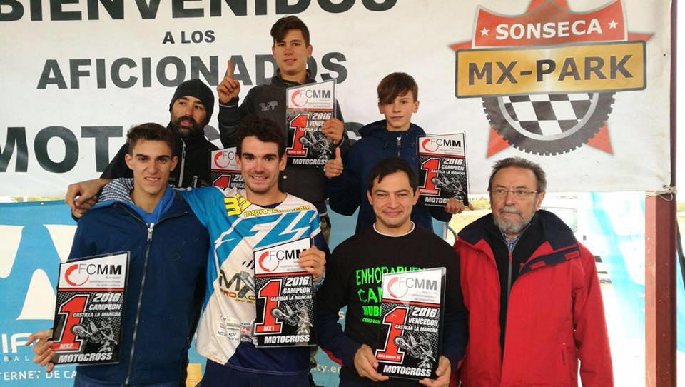 Sonseca dio bandera de cuadros al Campeonato de Motocross