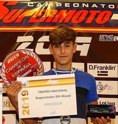 Mauro González Rojas, Vencedor del Trofeo Nacional Supermoto