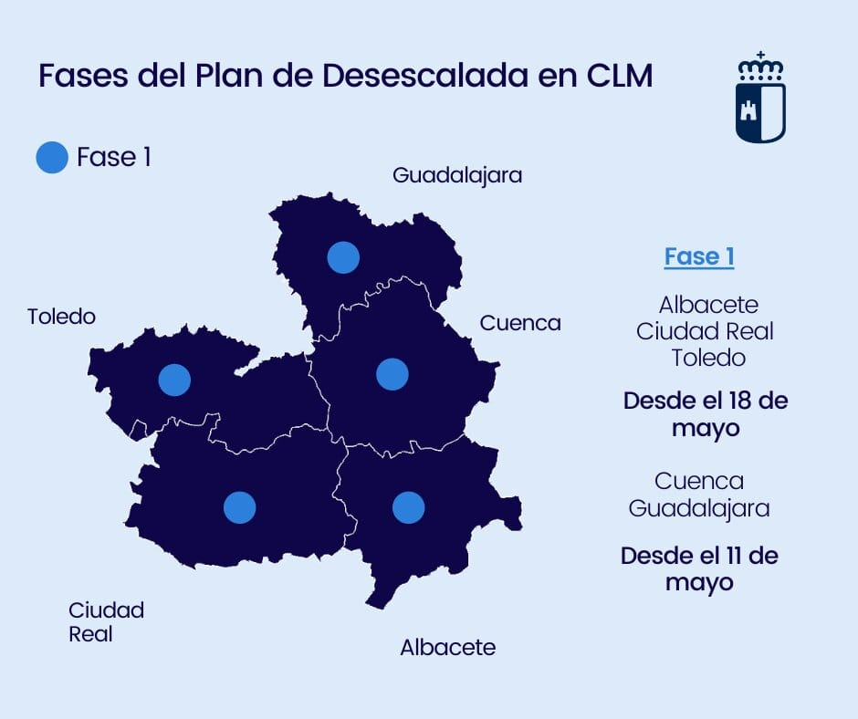 Castilla-La Mancha progresa en la desescalada