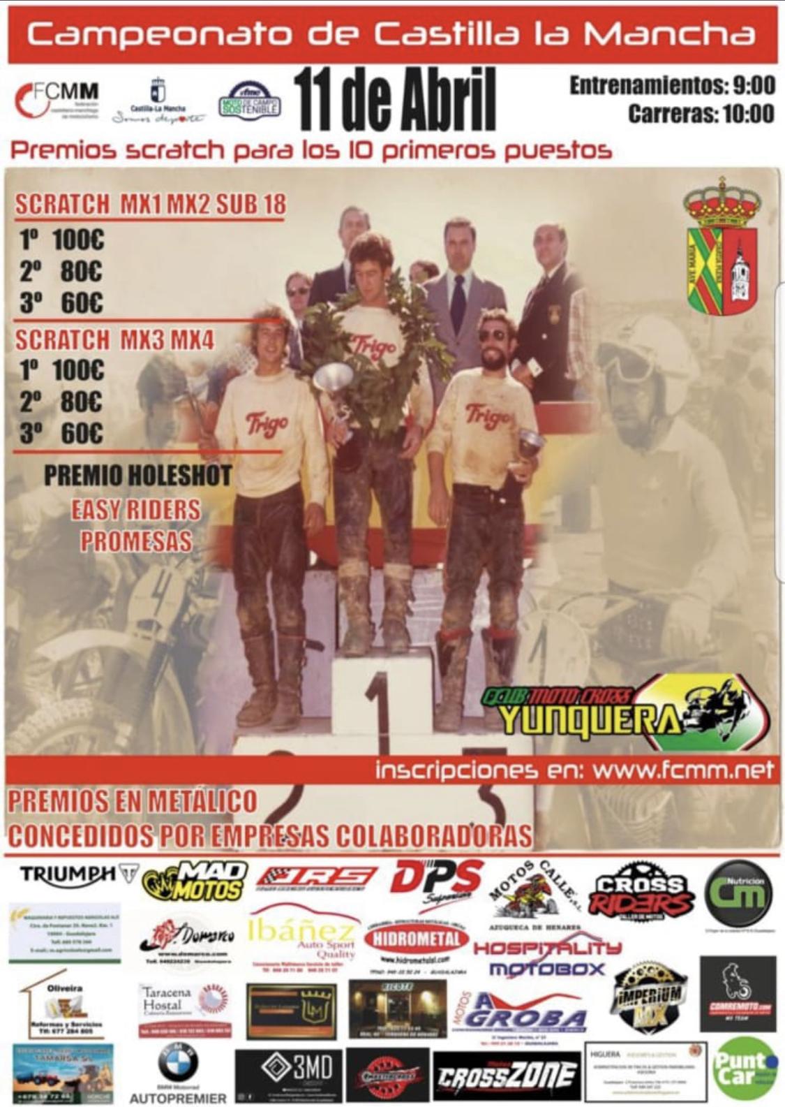 Yunquera de Henares alberga la 2ª cita del Campeonato de Motocross