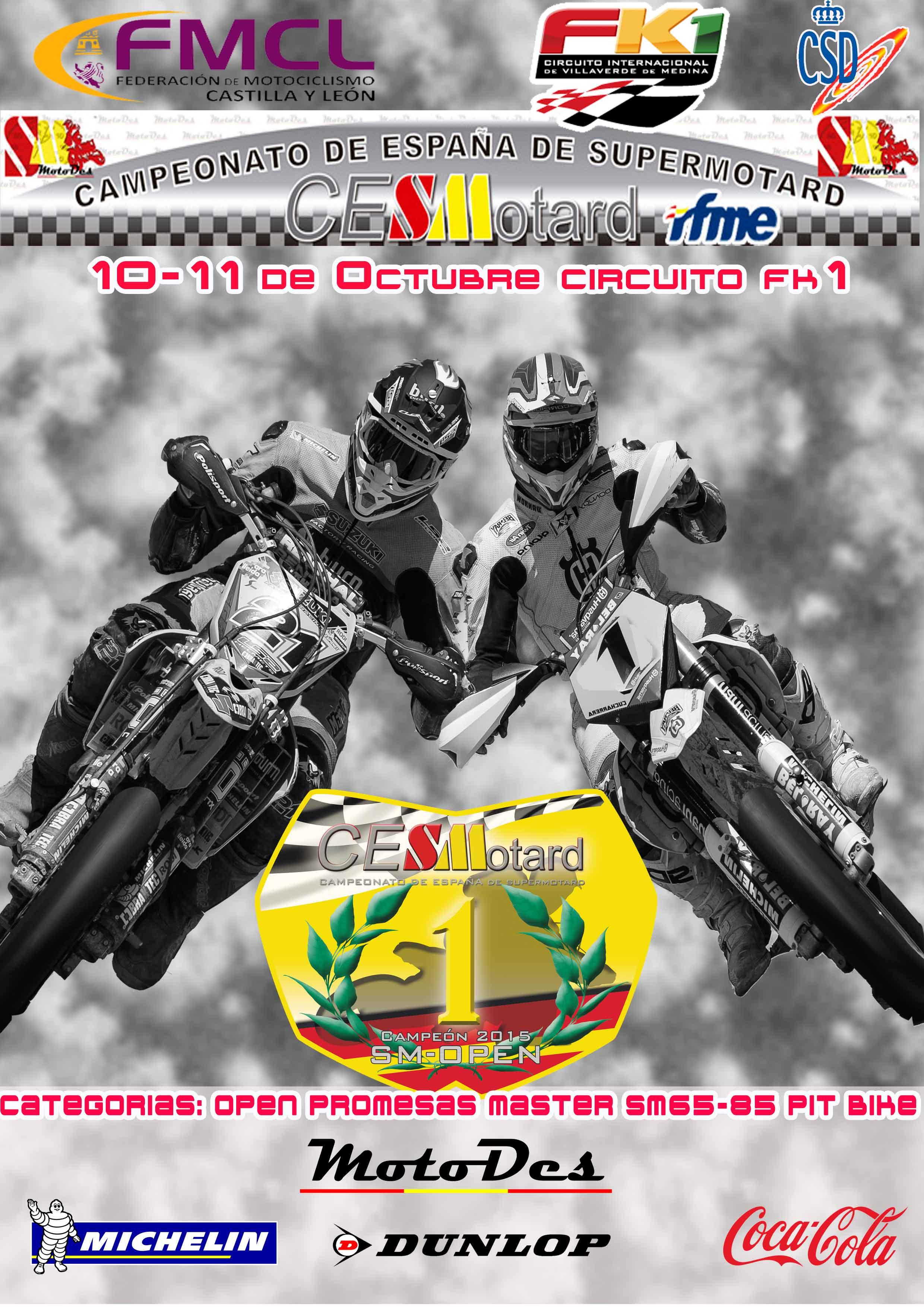 Circuito Fk1 : Rfme campeonato de españa de supermotard villaverde de
