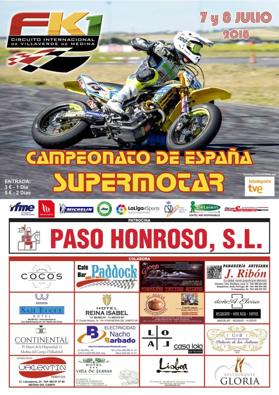 Circuito Fk1 : Rfme campeonato de españa de supermoto villaverde de medina